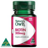 Природный биотин 300mcg 100 таблетки