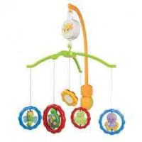 Пластиковая карусель CANPOL BABIES с универсальной ручкой - Звери с зеркалами