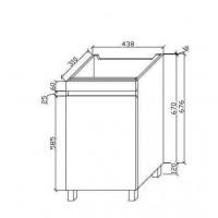 Шкаф ванной комнаты (C-M450-FP)