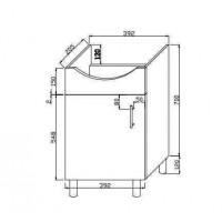 Шкаф ванной комнаты (C-MI400-S)
