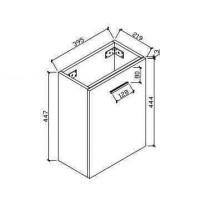 Шкаф для ванной комнаты (HAV400-WH)