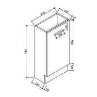 Шкаф для ванной комнаты (HAV400)
